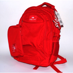 Glossy Bird Set of School Backpack with Orthopedic Back, Red, 45 cm