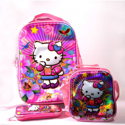 Set of School Backpack, Hello Kitty, 3 pieces, 40 cm