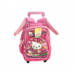 Rolling School Backpack, Different Style from Hello Kitty, 35 cm