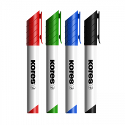 KORES WHITEBOARD MARKERS / SET OF 4