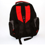 Amigo School Backpack, Black & Red, 45 cm