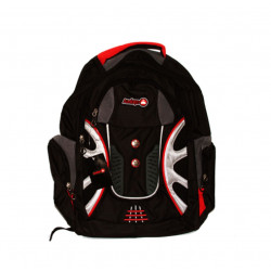 Amigo School Backpack, Black & Red, 45 cm