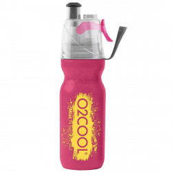 O2Cool Mist N Sip Aecticsqueeze 20OZ Classic Partner Color Pink