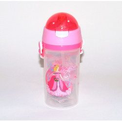 Plastic Water Bottle, Pink, 600 ml
