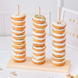 Ginger Ray - Donuts Cake Stand for Weddings & Parties 35 Donuts - Gold Wedding