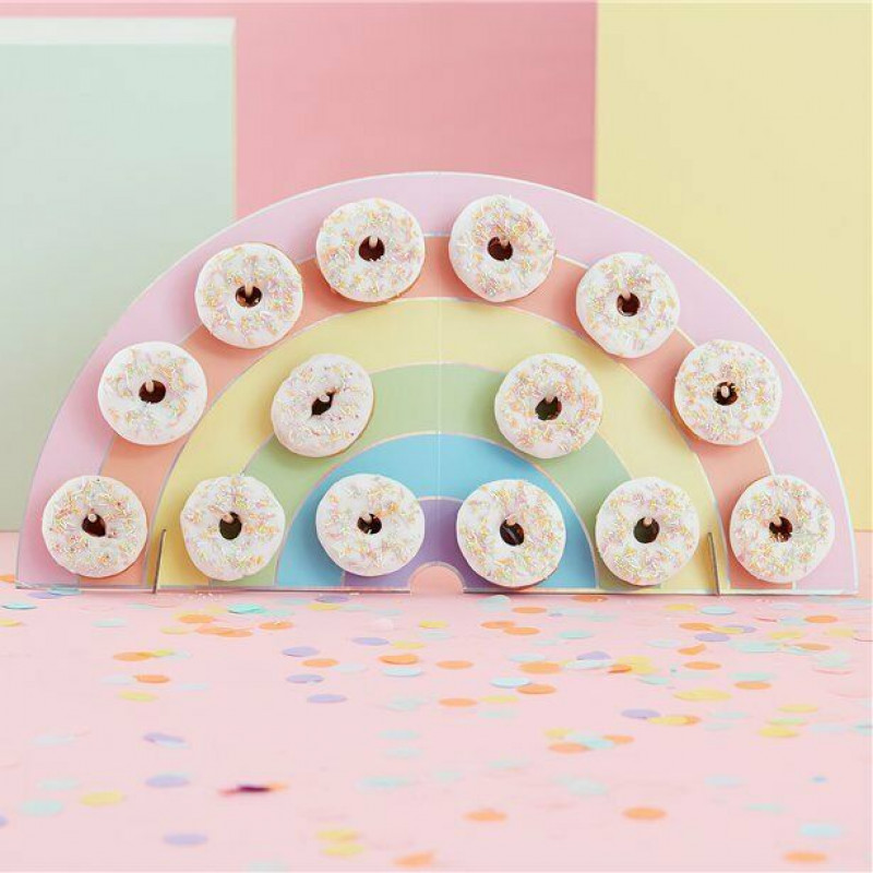 8 Doughnut Time Favour Boxes Birthday Party Wedding Favours Kids Tables