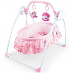 Ayinr Baby Cradle Swing Bed, Pink