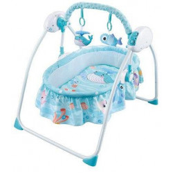 Ayinr Baby Cradle Swing Bed, Blue