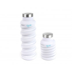 Que Collapsible Water Bottle, Glacier White, 590 ml