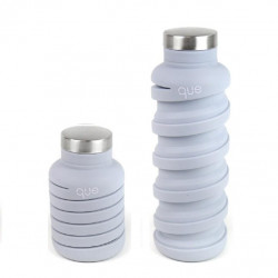 Que Collapsible Water Bottle, Cloudy Grey, 590 ml