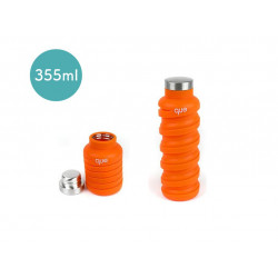 Que Collapsible Water Bottle, Sunbeam Orange, 355 ml