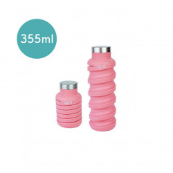 Que Collapsible Water Bottle, Coral Pink, 355 ml