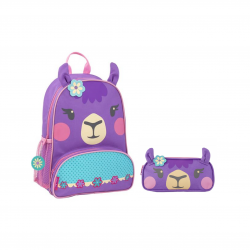 Stephen Joseph Sidekicks Llama Backpack And Pencil Pouch