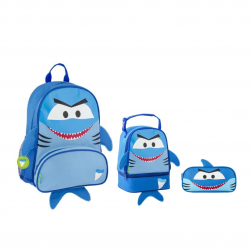 Stephen Joseph Sidekicks Backpack, Lunch Pals And Pencil Pouch Shark