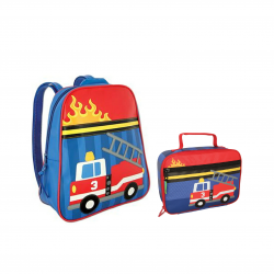 Stephen Joseph Sidekicks Backpack And Lunch Box Firetruck