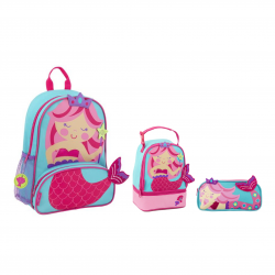 Stephen Joseph Sidekicks Backpack, Lunch Pals And Pencil Pouch Mermaid