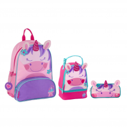 Stephen Joseph Sidekicks Backpack, Lunch Pals And Pencil Pouch Unicorn