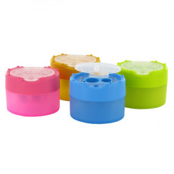 KUM Click Clack Pencil Sharpener - Two Holes