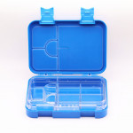 GenioWorld Bento Lunch Box 6 Compartment, Leak Proof, Blue