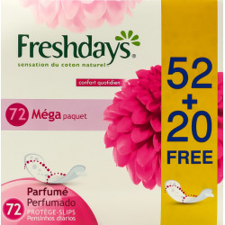 Freshdays Normal Scented 52+20 pieces