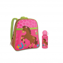 Stephen Joseph Sidekicks Backpack And Steel Bottle Horse