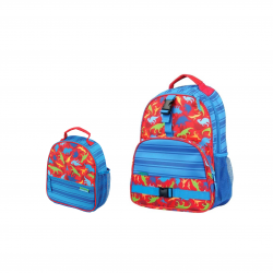 Stephen Joseph Sidekicks All Over Print Backpack 40 cm And Lunch Box Dino 25 cm