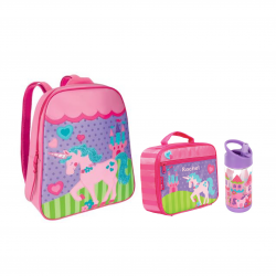Stephen Joseph Sidekicks Go Go Bag And Lunch Box And Flip Top Bottles Princess