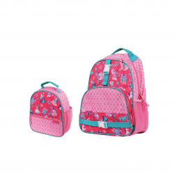 Stephen Joseph Sidekicks Print Backpack 40 cm And Lunch Box Princess 25 cm