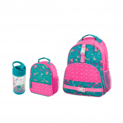 Stephen Joseph Sidekicks All Over Print Backpack And Lunch Box And Flip Top Bottles Mermaid