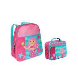 Stephen Joseph Rolling Go Go Bag 33 cm And Lunch Box Mermaid 19 cm