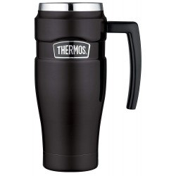 Thermos Stainless Steel King Vacuum Travel Mug, 470 ml, Matt Black