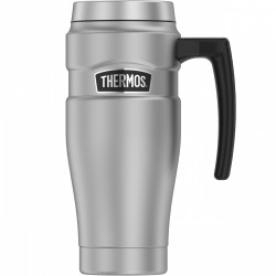 Thermos Stainless Steel King Vacuum Travel Mug, 470 ml, Silver