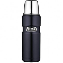 Thermos Stainless Steel Double Wall Beverage Bottle 470ml, Black