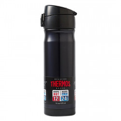 Thermos 470ml Vacuum Insulated Commuter Bottle, Black