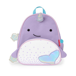 Skip Hop Zoo Little Kid Backpack, Narwhal
