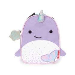 Skip Hop Zoo Lunchie Insulated Kids Lunch Bag, Narwhal