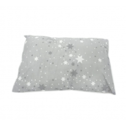 Baby Head Pillow, Stars, Grey