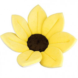 Baby Bath Pillow - Infant Tub Blooming Flower Cushion 80 cm, Yellow