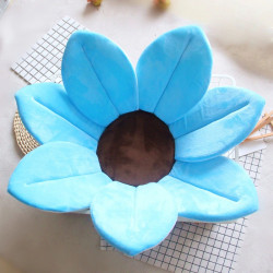 Baby Bath Pillow - Infant Tub Blooming Flower Cushion 80 cm, Blue