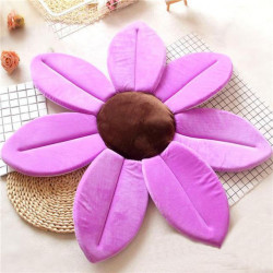 Baby Shower Blooming Flower Newborn Bathtub Foldable Lotus Shape Cushion 80 cm, Purple