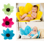 Baby Bath Pillow - Infant Tub Blooming Flower Cushion 80 cm, Pink