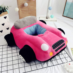 Children's Sofa Backrest Chair Stuffed Car Shaped Plush, Pink