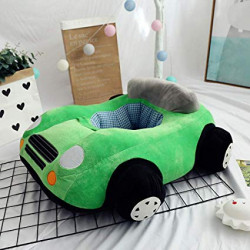 Children's Sofa Backrest Chair Stuffed Car Shaped Plush, Green