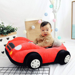 Children's Sofa Backrest Chair Stuffed Car Shaped Plush, Red