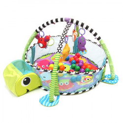 3 in 1 Baby Play Mat with Ball Pool, Turtle