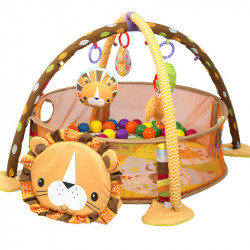 3 in 1 Baby Play Mat with Ball Pool, Lion