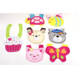 Baby Wash Cloth Bibs, Different Models
