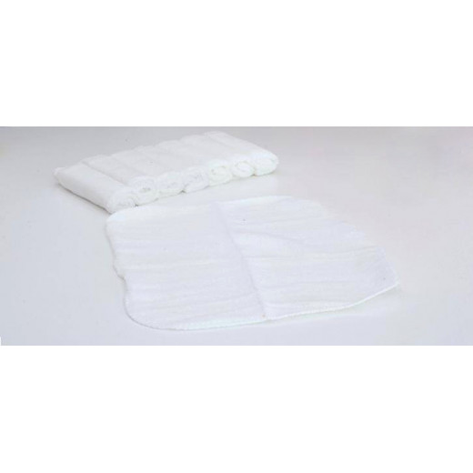 Baby Wash Cloth, 7 Pieces, White