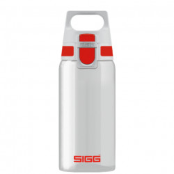 SIGG Water Bottle Total Clear ONE Red 0.5 L