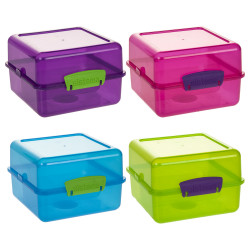 Sistema Lunch Cube To Go Colored Boxes, Assorted Colours, 1.4 Litre